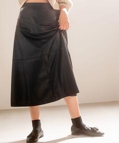 アメリカンラグシー AMERICAN RAG CIE / エコレザー フレアスカート