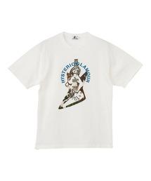 GUITAR GIRL刺繍 Tシャツホワイト