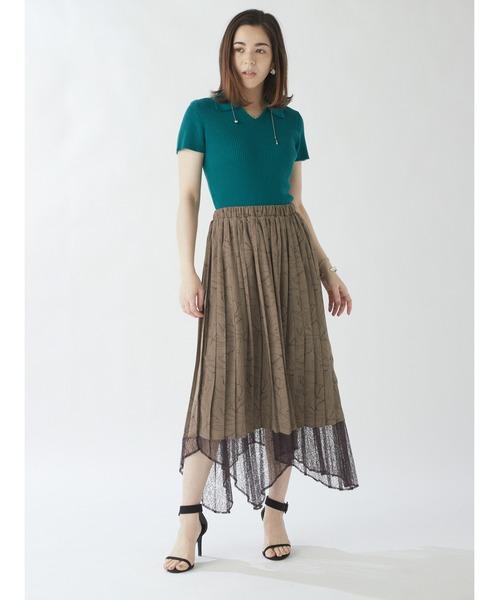 フラワーチュールプリーツスカート