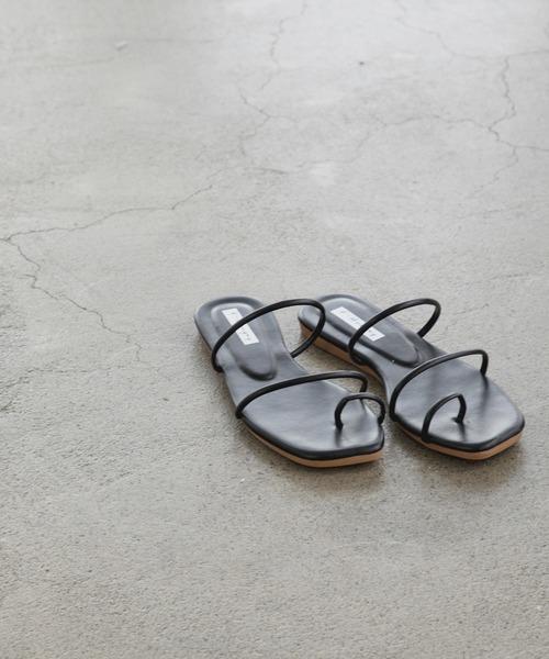 square toe tong sandal