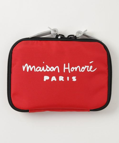 MAISON HONORE(メゾンオノレ)の「POUCH(ポーチ)」|レッド