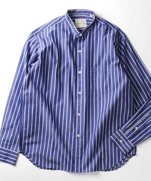 Stripe Band Collar Shirts/ストライプ バンドカラーシャツ