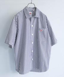 Danton(ダントン)のDANTON×DOORS 別注ストライプ半袖ワイドシャツ(シャツ/ブラウス)