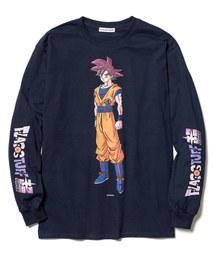 F-LAGSTUF-F× DRAGON BALL/フラグスタフ×ドラゴンボール GOKU L/S TEE/プリントTシャツ(Tシャツ/カットソー)