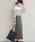 Pierrot(ピエロ)の「リブカットソーロングスカート(スカート)」|詳細画像