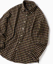 SHIPS(シップス)のSC: フェザー ギンガムチェック ボタンダウン ネルシャツ 19FW(シャツ/ブラウス)
