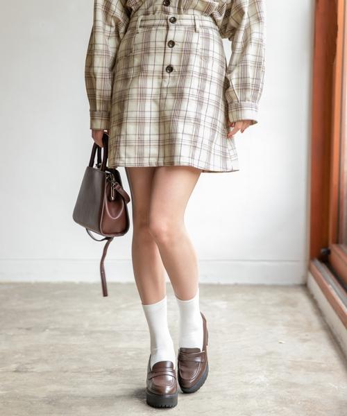 Heather(ヘザー)の「ムジガラスカパン 852577(スカート)」|ホワイト系その他