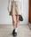 Heather(ヘザー)の「ムジガラスカパン 852577(スカート)」|ベージュ系その他
