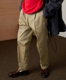<Dickies × EMMA CLOTHES> 別注 1タック テーパード チノパンツ ワイドパンツ(Heavy ounce)ベージュ