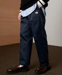 <Dickies × EMMA CLOTHES> 別注 1タック テーパード チノパンツ ワイドパンツ(Heavy ounce)ネイビー