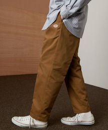 <Dickies × EMMA CLOTHES> 別注 1タック テーパード チノパンツ ワイドパンツ(Heavy ounce)ブラウン
