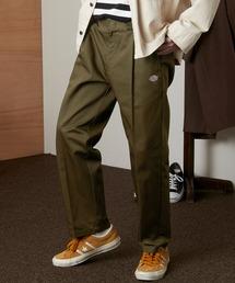 <Dickies × EMMA CLOTHES> 別注 1タック テーパード チノパンツ ワイドパンツ(Heavy ounce)オリーブ