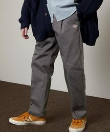 <Dickies × EMMA CLOTHES> 別注 1タック テーパード チノパンツ ワイドパンツ(Heavy ounce)チャコール