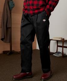 <Dickies × EMMA CLOTHES> 別注 1タック テーパード チノパンツ ワイドパンツ(Heavy ounce)ブラック