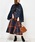 natural couture(ナチュラルクチュール)の「BIGチェックフレアスカート(スカート)」|オレンジ系その他