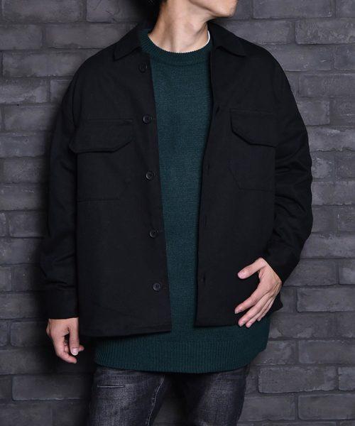 特価 2019aw ビッグサイズ ボックスシルエット ツイル CPOシャツジャケット 2019秋冬, 総領町 78267777