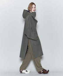 <6(ROKU)>REVER HOODED PULLOVER COAT/コート