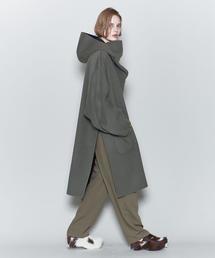 <6(ROKU)>REVER HOODED PULLOVER COAT/コート