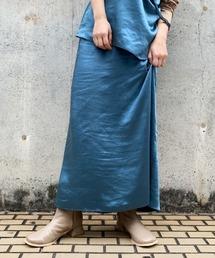Kastane(カスタネ)のサテンIラインスカート(スカート)