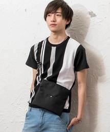 MinoriTY(マイノリティ)のフロントニット切替半袖Tシャツ カットソー サマーニット(Tシャツ/カットソー)