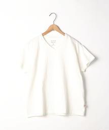 USAコットンリラックスVネックTシャツ