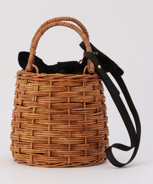 100%安い 【MARCHER/マルシェ】ショルダー&ファー巾着付かごバッグ(かごバッグ) NOLLEY