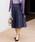 NARACAMICIE(ナラカミーチェ)の「ボリュームフレアスカート(スカート)」|ネイビー