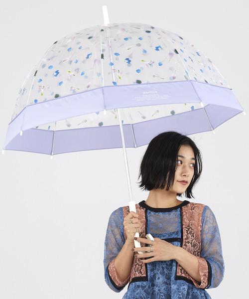 Wpc.(ダブルピーシー)の「雨傘 plantica×Wpc. フラワーアンブレラ プラスチック(長傘)」|パープル