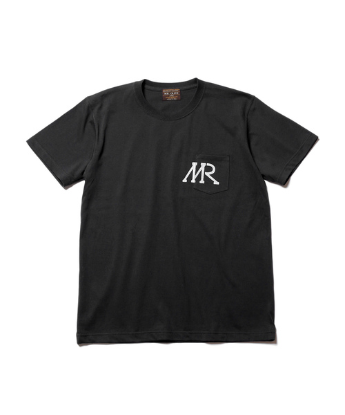 7oz HEAVEY WEIGHT AMERICAN COTTON / MR LOGO PRINT POCKET T-SHIRT