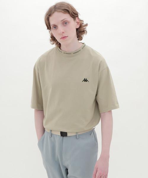 Kappa/カッパ EMMA CLOTHES別注 ビッグシルエット ロゴ刺繍&ネックデザインカットソー 1/2 sleeve(EMMA CLOTHES)