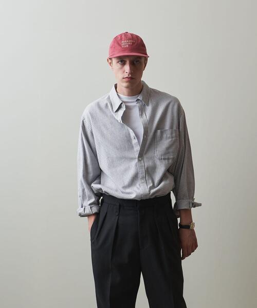 <Steven Alan> 40/1 NEL CHECK REGULAR COLLAR SHIRT-LOOSE/シャツ