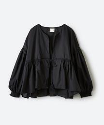 haco!(ハコ)のブラウス感覚で着られる ふんわりギャザー羽織り(シャツ/ブラウス)
