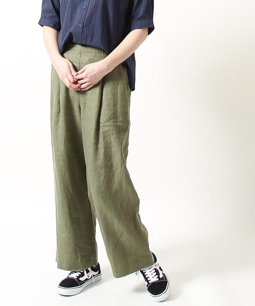 【WEB限定サイズ⇒XL】フレンチリネン9分丈パンツ