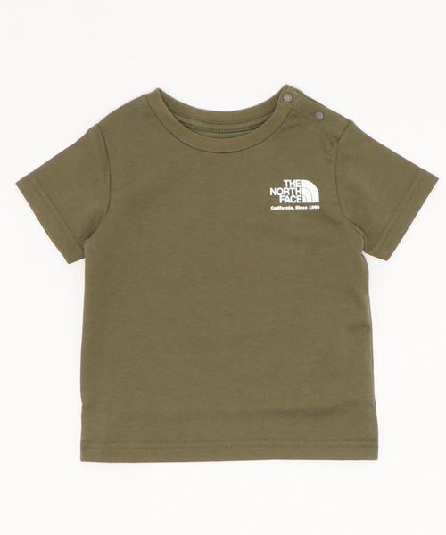 THE NORTH FACE(ザノースフェイス)の「THE NORTH FACE/ザ・ノースフェイス/T-shirt/ロゴTシャツ/NTB32029(Tシャツ/カットソー)」|オリーブ