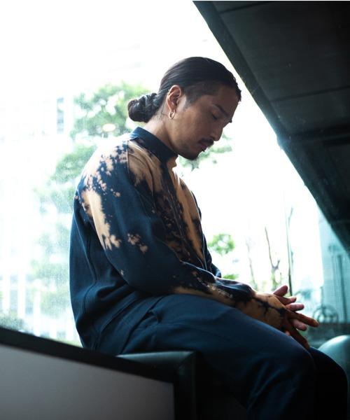 【 LYO / リョー 】 MOCK NECK BLEACH SWEAT SHIRT モックネック スウェット ブリーチ シャツ トレーナー 02190003 ICI