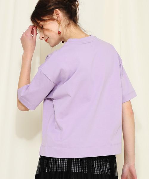 【NINE】《STUDIOUS別注》スリットヘムボックスTシャツ