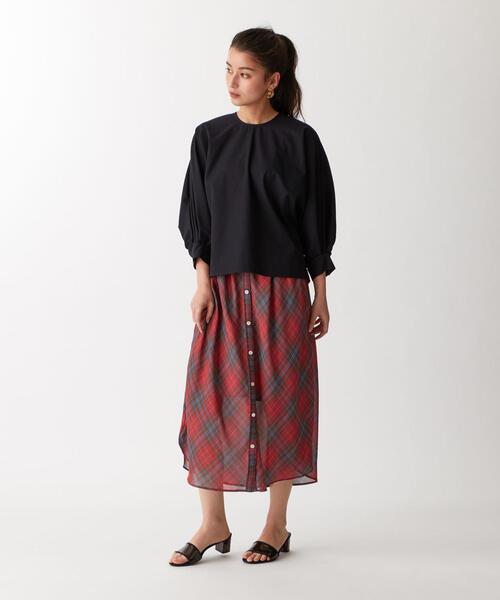 ○SACRA(サクラ) SHEER CHK スカート