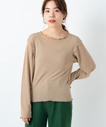 Kastane(カスタネ)のキャミ付きクルーネックメロウプルオーバー(Tシャツ/カットソー)