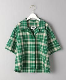 <MM6 Maison Margiela>チェックオープンカラーショートスリーブシャツΨ