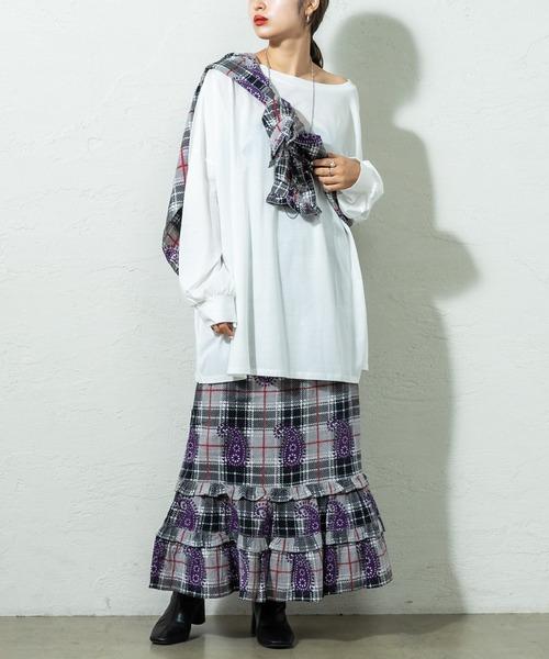 mystic(ミスティック)の「BINDU ロングスカート(スカート)」|ブラック