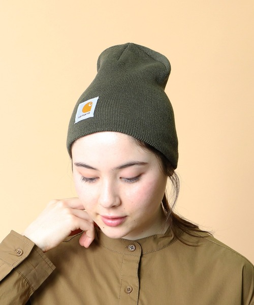 【 carhartt / カーハート 】# ACRYLIC KNIT HAT アクリル ニット  ニットワッチ ニットキャップ ニット帽 ビーニー A205・・