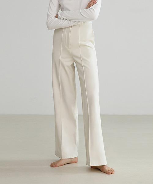 【UNSPOKEN】White high waist slacks FDZ17120chw