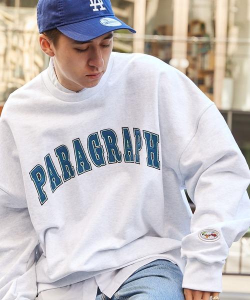【PARAGRAPH/パラグラフ】PARAGRAPH_NO.38  INDUSTRIAL EMB MTM/インダストリアル エンブロイダリーブランド 刺繍ロゴ スウェット