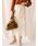 Arumlily(アロムリリィ)の「【Arumlily】 リブニットサロペットスカート(スカート)」|アイボリー