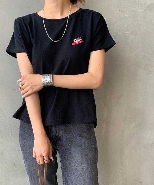 [THE ENDLESS SUMMER/エンドレスサマー] 別注 BUHI ワンポイントTシャツ