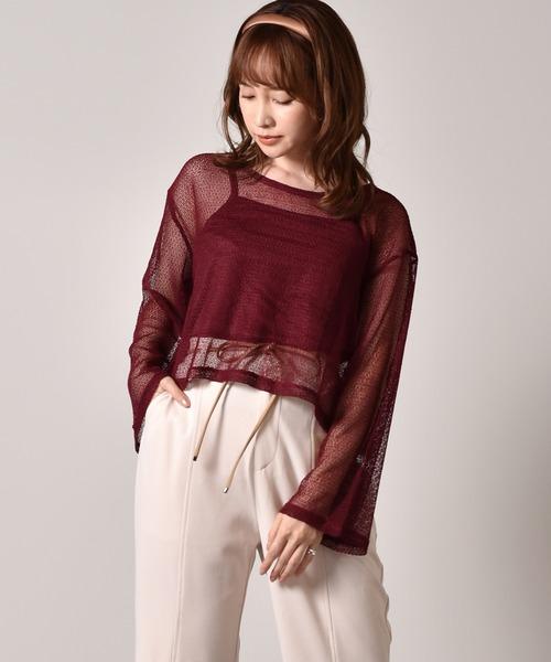 【セットアイテム】透かし編みキャミSet
