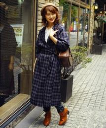 襟刺繍2WAYコート(ダッフルコート)