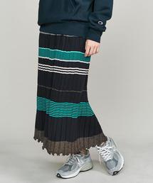 <JEAN NERET>マルチボーダースカート