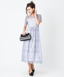 【結婚式・二次会におすすめ】総レースロングドレス(ドレス)