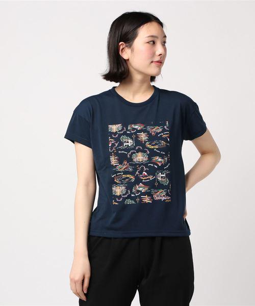 ラタビーチウィメンズショートスリーブTシャツ